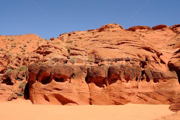 川 砂の ベッド 砂漠 水 ストックフォト © diomedes66
