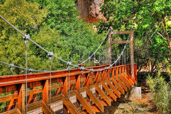 ногу моста пустыне горные каньон древесины Сток-фото © diomedes66