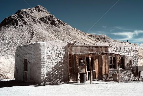 古い 西部 建物 スタイル 山 家 ストックフォト © diomedes66