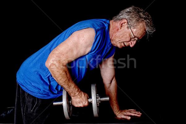 シニア 行使 男 重量 重み 行使 ストックフォト © diomedes66