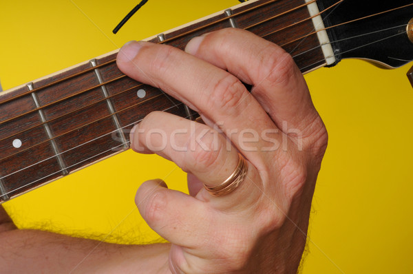 G Major guitar chord Stock photo © diomedes66