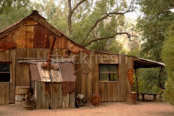 старые деревенский кабины заброшенный юго-запад США Сток-фото © diomedes66