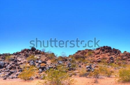 Volcanic desert rock Stock photo © diomedes66