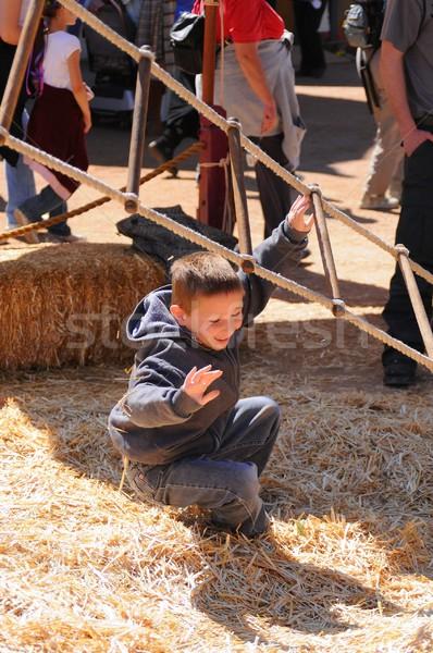 少年 下がり オフ はしご ロープ ストックフォト © diomedes66