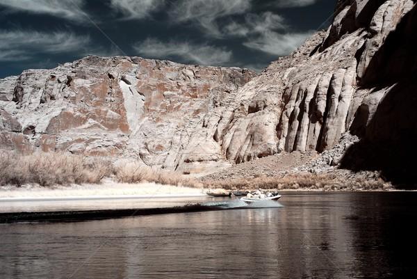 Spelevaren Colorado rivier water berg zomer Stockfoto © diomedes66