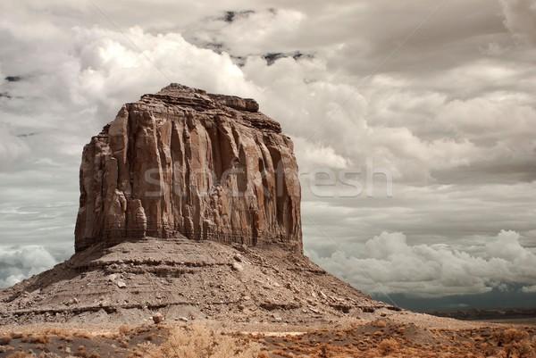 долины бурный погода Аризона природы горные Сток-фото © diomedes66