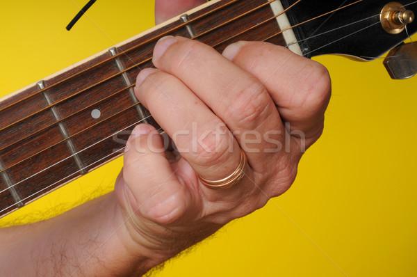 E major Guitar Chord Stock photo © diomedes66