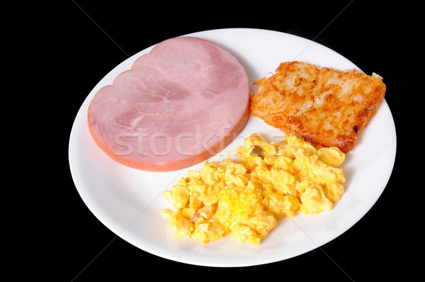 Ham Hash Browns And Eggs Stock photo © diomedes66