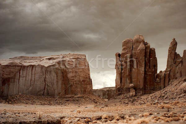 Orageux météorologiques vallée Arizona nature montagne Photo stock © diomedes66