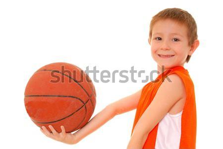 баскетбол девушки красивой молодые Lady Сток-фото © diomedes66