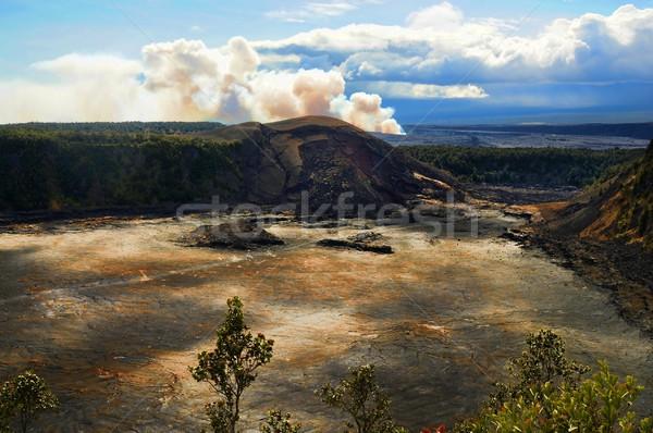 火山 ビッグ 島 ハワイ 風景 岩 ストックフォト © diomedes66