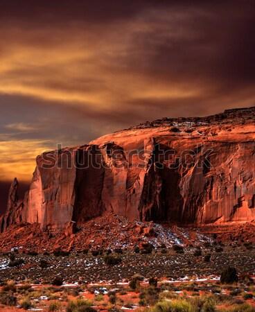 Vallée nature désert bleu sable Photo stock © diomedes66