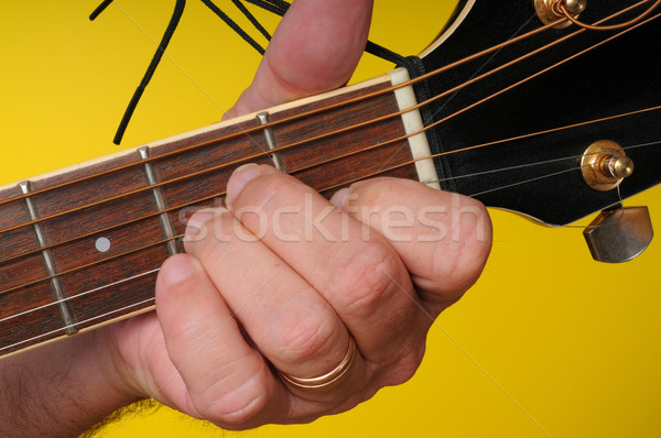 A minor guitar chord Stock photo © diomedes66