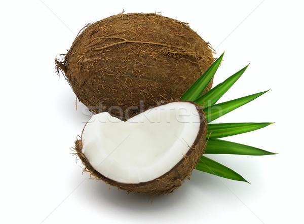 Сток-фото: свежие · кокосового · листьев · продовольствие · природы · фрукты