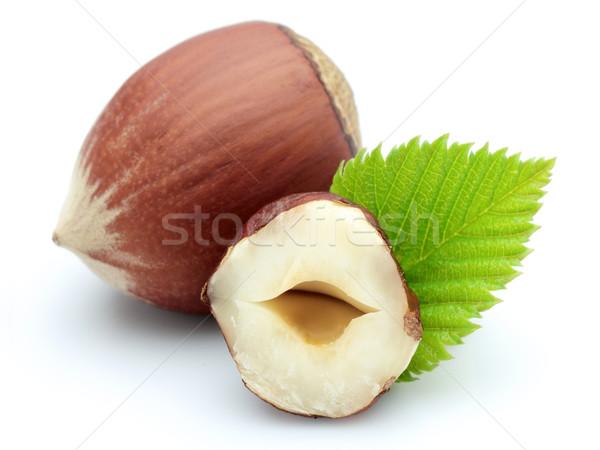 Tasty hazelnut with leaves Stock photo © Dionisvera
