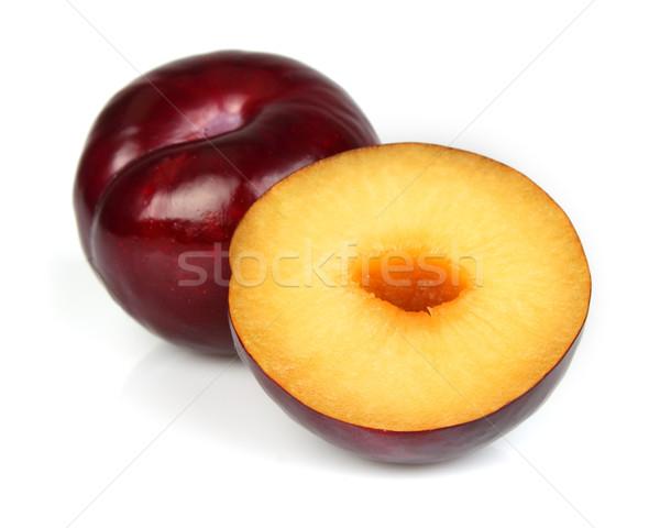 Słodkie śliwka żywności owoców biały Zdjęcia stock © Dionisvera
