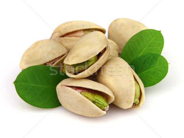Secado pistacho hojas alimentos grupo planta Foto stock © Dionisvera