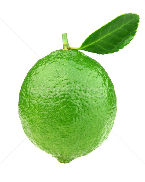Fresh lime with leaves Stock photo © Dionisvera