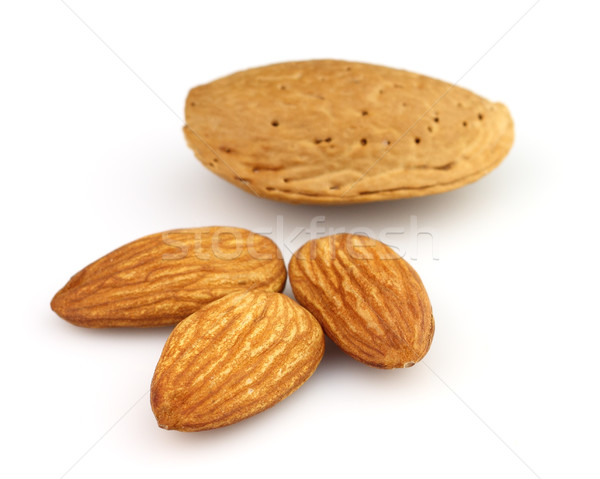 Almonds kernel in closeup Stock photo © Dionisvera