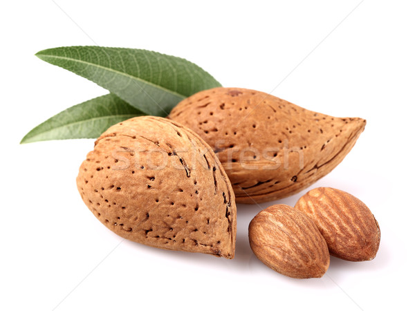 Almonds with kernel Stock photo © Dionisvera