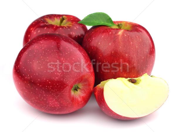Süß Äpfel Obst Objekte geschnitten Stock foto © Dionisvera