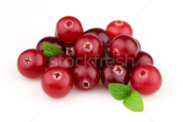 Cranberry with leaves Stock photo © Dionisvera