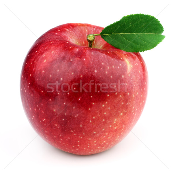 Sweet apple with leaves Stock photo © Dionisvera