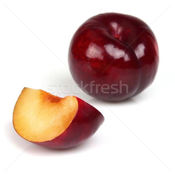 Fresh plum with slice Stock photo © Dionisvera
