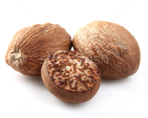Nutmeg in closeup Stock photo © Dionisvera