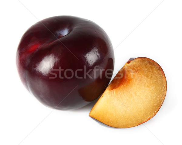 Ripe plum with slice Stock photo © Dionisvera