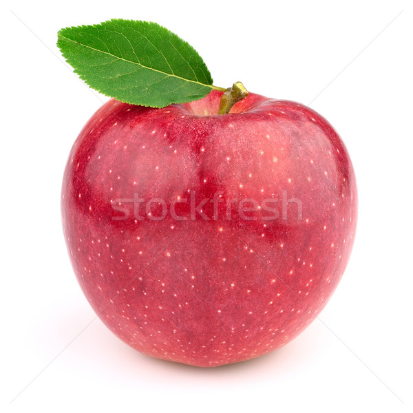 Fresh apple with leaves Stock photo © Dionisvera