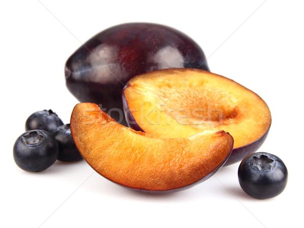 édes szilva áfonya egészség táplálkozás étel Stock fotó © Dionisvera