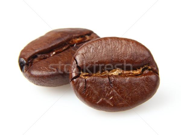 Kahve çekirdekleri gıda içmek beyaz tohum makro Stok fotoğraf © Dionisvera