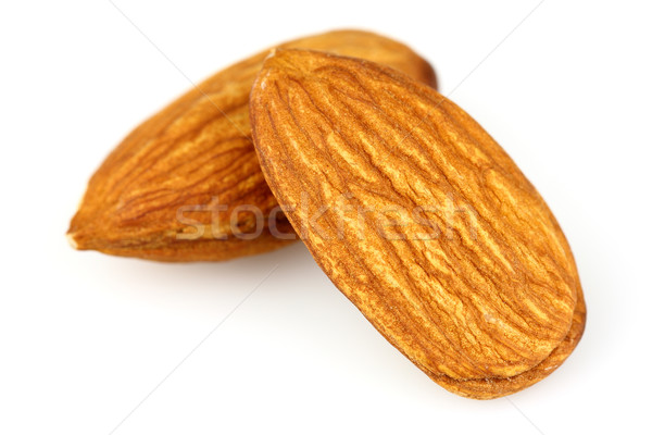 Almonds in closeup Stock photo © Dionisvera