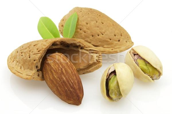 Secado pistacho frutas verde nueces Foto stock © Dionisvera
