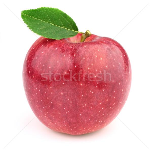 Tatlı elma yaprakları meyve kırmızı nesneler Stok fotoğraf © Dionisvera