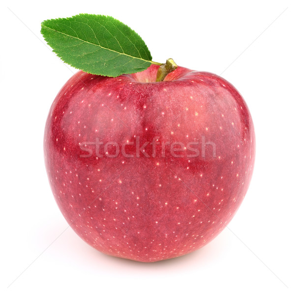 Sweet pomme laisse fruits rouge objets Photo stock © Dionisvera