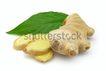 Ingwer Wurzel Medizin weiß Gemüse geschnitten Stock foto © Dionisvera