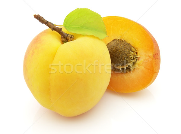 Fresh apricot Stock photo © Dionisvera
