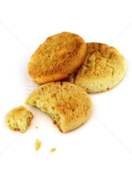 Fresche cookies primo piano alimentare gruppo dessert Foto d'archivio © Dionisvera