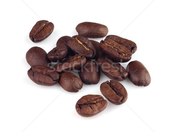 Kahve çekirdekleri gıda içmek beyaz tohum Stok fotoğraf © Dionisvera