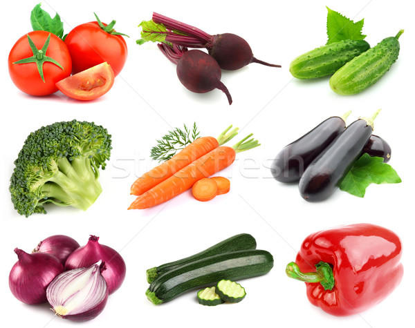 Collage from fresh vegetables Stock photo © Dionisvera