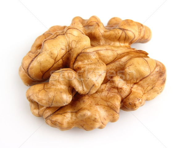 Kernel of walnut in closeup Stock photo © Dionisvera