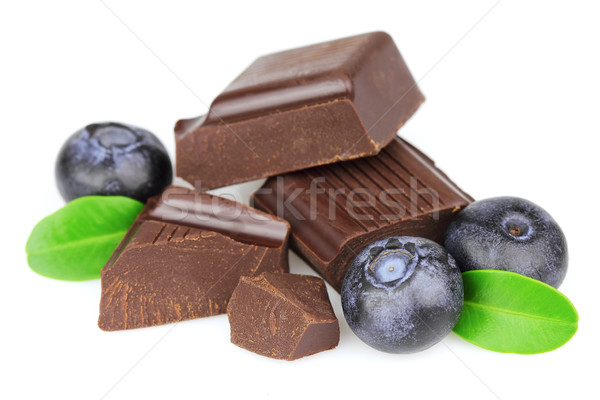 Chocolate candy with blueberry Stock photo © Dionisvera