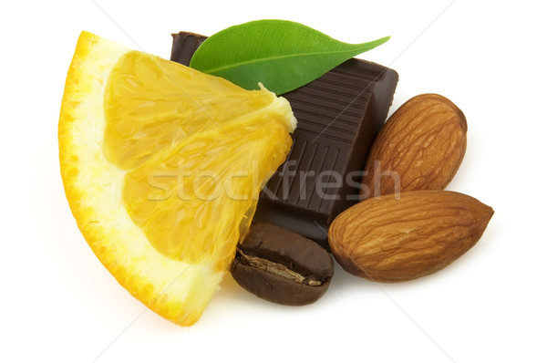 Chocolate with orange Stock photo © Dionisvera