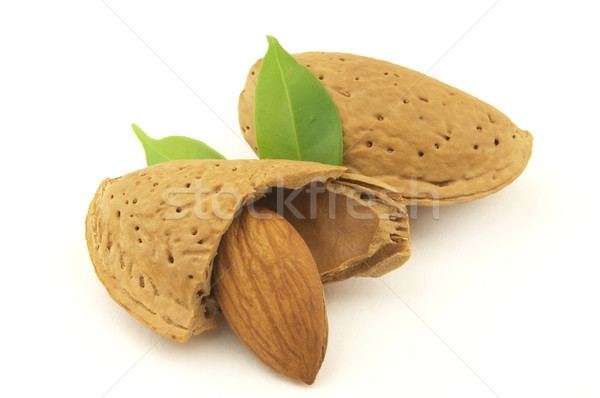 Almond with leaves Stock photo © Dionisvera