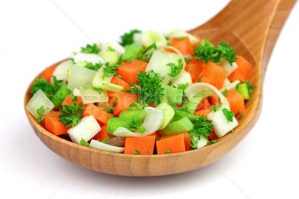 Taze sebze gıda sağlık turuncu renk Stok fotoğraf © Dionisvera