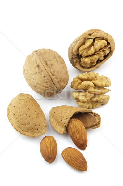 Walnuts and almonds Stock photo © Dionisvera