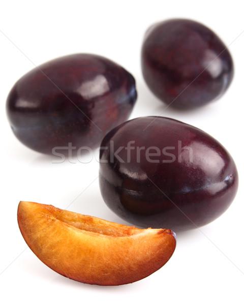 Sweet plums with slice Stock photo © Dionisvera