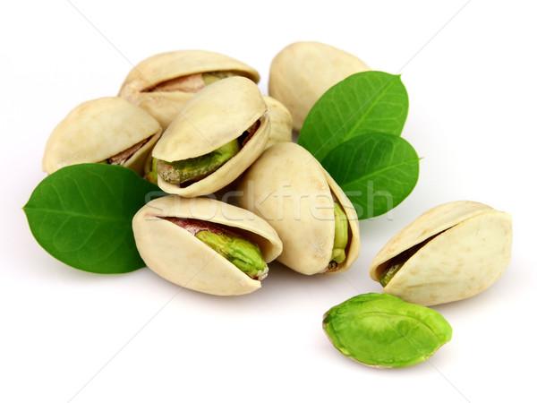 Tas pistache blanche alimentaire groupe laisse Photo stock © Dionisvera